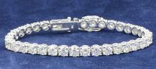 Bracelet (35) Round Diamonds 14.41ct.tw (Average Dia..41ct.) 18K