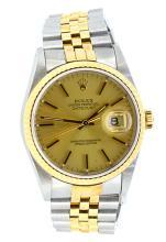 Watch Rolex Men's Datejust 18K & Stainless Steel Model: 16233