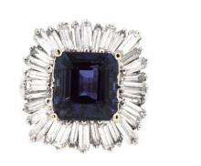 6.14ct. Center Tanzanite Ring 18K