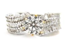 1.25ct. Center Diamond Ring 18K