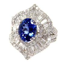 3.03ct. Center Tanzanite Ring 18K