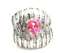 1.66ct. Center Pink Sapphire Ring 14K