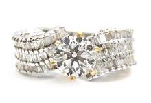 1.25ct. Center Diamond Ring 18K