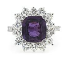 4.04ct. Unheated Sapphire Ring 18K-GIA
