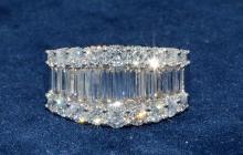2.82ct.tw Baguette Diamond Ring 18K