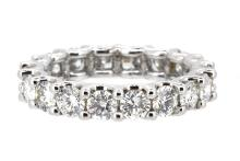 2.73ct.tw. Round Brilliant Diamond Eternity Ring 18K Ring size 5 1/2 Ring can be sized