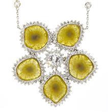 8.70ct.tw Fancy Yellow Diamond 18K