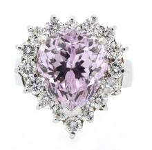 9.46ct. Center Kunzite Ring 18K