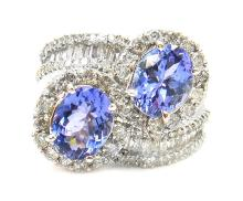 3.32ct.tw Oval Tanzanite Ring 18K
