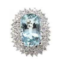 11.06ct. Center Aquamarine