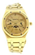 Watch Pre Owned Audemars Piguet Royal Oak Moon Phase Day Date 18K Yellow Gold Serial: 1188