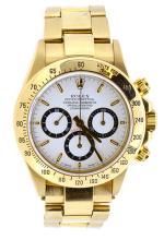Watch Pre Owned Rolex Daytone Oyster Perpetual Superlative Chronometer Officially Certified Cosmograph 18K Yellow Gold With Original Rolex Certification Papers Serial: S720718