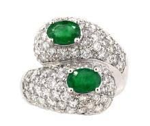 1.17ct.tw Oval Emerald Ring 18K
