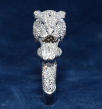 2.44ct.tw Diamond Panther Ring 18K