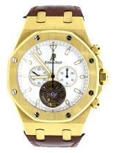 Watch Pre Owned Audemars Piguet Tourbillon Royal Oak With Original Certification 18K Yellow Gold