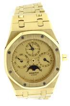 Watch Pre Owned Audemars Piguet Royal Oak Quantieme Perpetuel Automatique. Number: 052 18K Yellow Gold