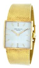 Watch Pre Owned Patek Philippe Square Face Yellow Gold