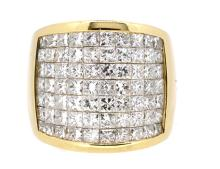5.63ct.tw. Princess Cut Diamonds Ring 14K