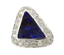 8.02ct. Australian Opal Ring 14K