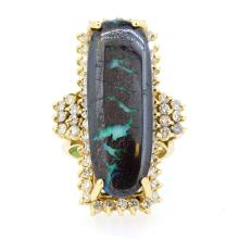 15.09ct. Center Opal Ring 14K Yellow Gold