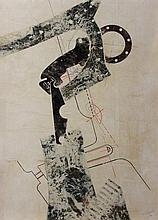 Gérard RENVEZ (né en 1946). Composition abstraite,
