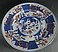 Kangxi Blue and White and Gold Glazed plate with Landscape Design