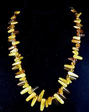 A BEEWAX/ AMBER NECKLACE