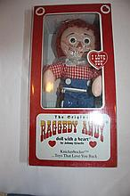 The Original Raggedy Andy  doll with a heart, by Johnny Gruelle, Knickerbocker, NIB