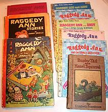 9 Antique Raggedy Ann Books.