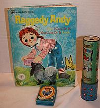 Raggedy Andy Book, keleidoscope, Old Maid Card Game