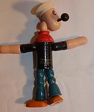Popeye Wood Doll, jointed, By KFS