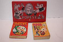 3 pieces of Popeye, 2 books & Pencil box set.
