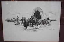 Don Gill Print, Cowboy & Wagon, 1989, 364/1300