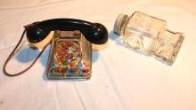 Glass candy container - car & phone
