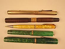 Five Vintage Writing Pens.
