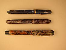 Three Vintage Fountain Pen.
