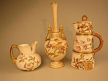 Three Pieces English Royal Worcester Porcelain.