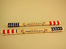 Two Crepe Paper American Flag Sets.
