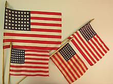 Four 48 Star United States Parade Flags.