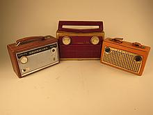 Three Vintage Portable Radios.