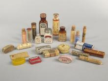 24 Antique Medical Pill Containers.