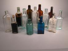 13 Vintage Pharmaceutical Bottles.