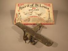 Metalcraft Spirit of St. Louis No. 810 Kit Box With Airplane.