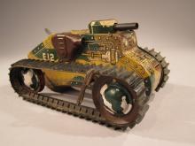 Marx Tin Litho Wind-Up Tank.
