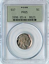 1937 5C PR65 PCGS