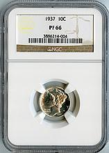 1937 10C PF66 NGC