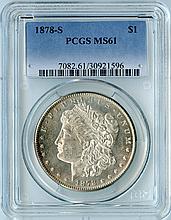 1878-S S$1 MS61 PCGS