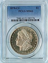 1878-CC S$1 MS62 PCGS