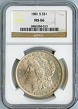 1881-S S$1 MS66 NGC