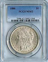 1880 S$1 MS62 PCGS